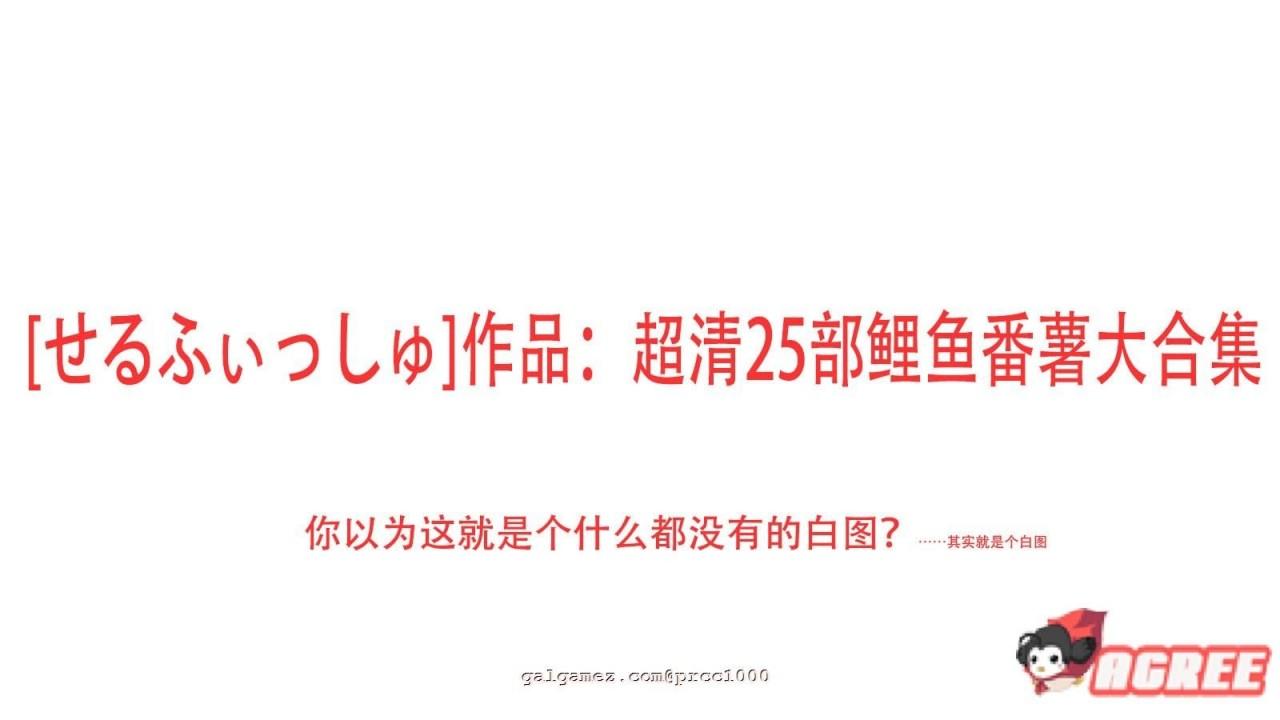 【2D合集/汉化/全动态】[せるふぃっしゅ]作品:超清25部鲤鱼番薯大合集【7.4G/全CV】